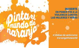 """Bajo el lema """"Pinta el mundo de naranja"""", la ONU llamó a seguir sumando esfuerzos contra la violencia hacia la mujer."""